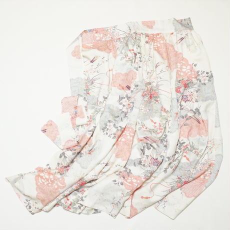 巻物に花模様【ギャザーラップスカート】
