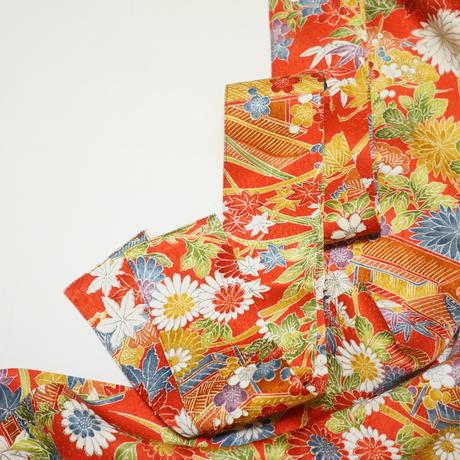 屋敷に草花模様【ギャザーラップスカート】