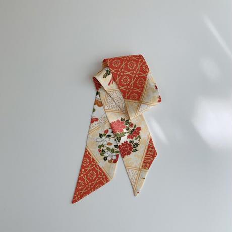 斜め格子に花丸紋模様 ②【短】