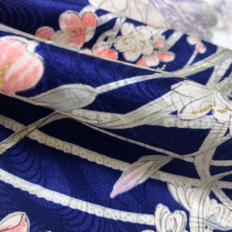 鳥と菊枝梅牡丹模様【ギャザーラップスカート】