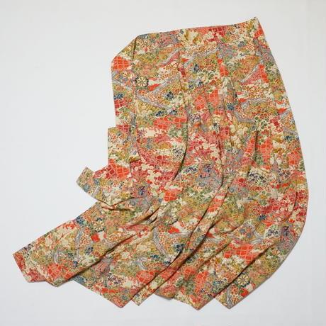御所車古典模様【タックラップスカート】