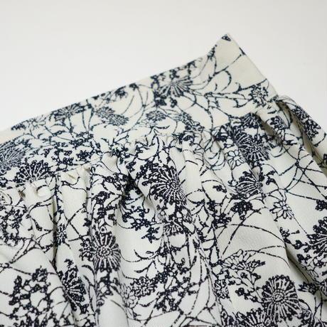 菊模様【ギャザーラップスカート】