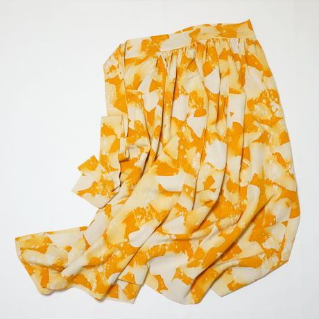 抽象模様暈し【ギャザーラップスカート】