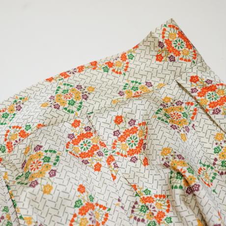 籠目華紋模様【タックラップスカート】