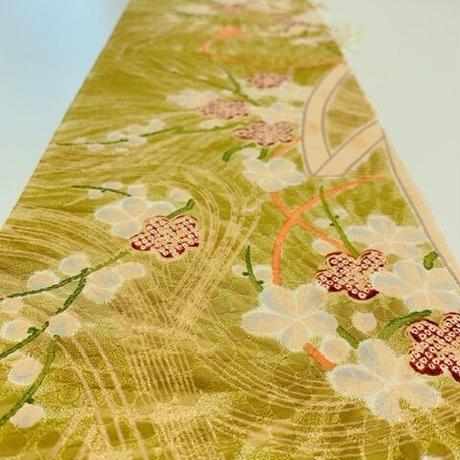草花模様総梅地紋【ギャザーラップスカート】