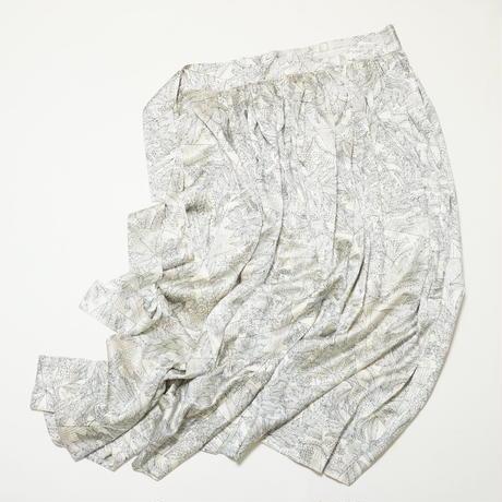 裂取りに唐花模様【ギャザーラップスカート】