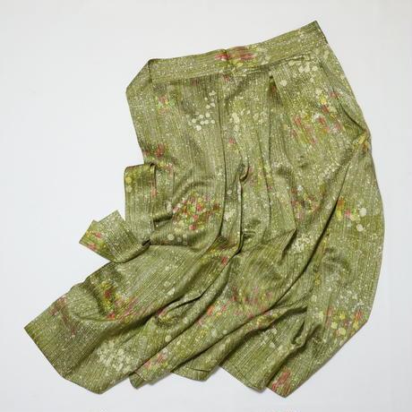 雨縞に水玉模様【タックラップスカート】