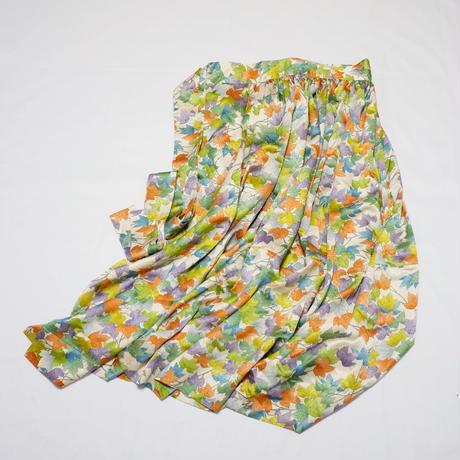 蔦の葉模様【ギャザーラップスカート】