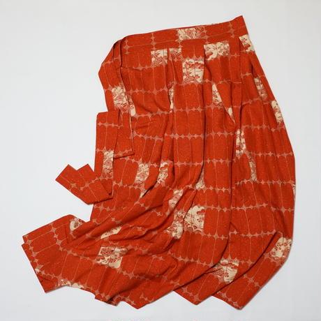 縁草花模様【タックラップスカート】