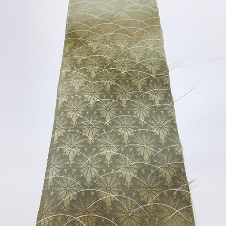 芝模様菊地紋尽くし【ギャザーラップスカート】