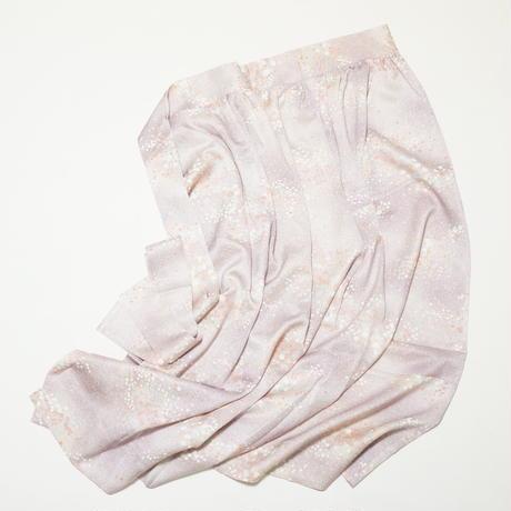 変わり織のり散らし花模様【ギャザーラップスカート】