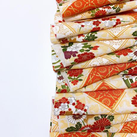 斜め格子に花丸紋模様【タックラップスカート】