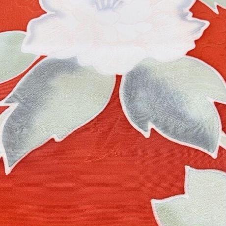 大花模様地紋に小梅地紋【ギャザーラップスカート】