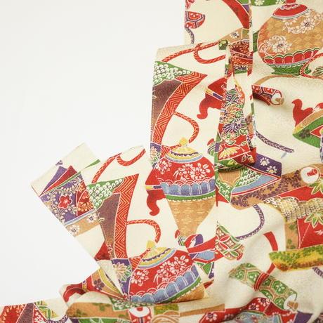 巻物に壺模様【タックラップスカート】