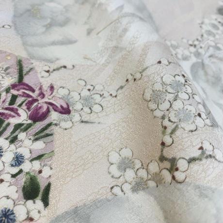牡丹藤枝梅模様【ギャザーラップスカート】