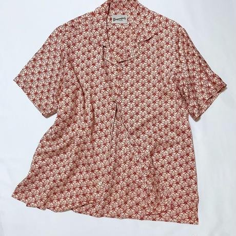 菊の青海波模様(地紋入り)【M】【ケニシャツ】