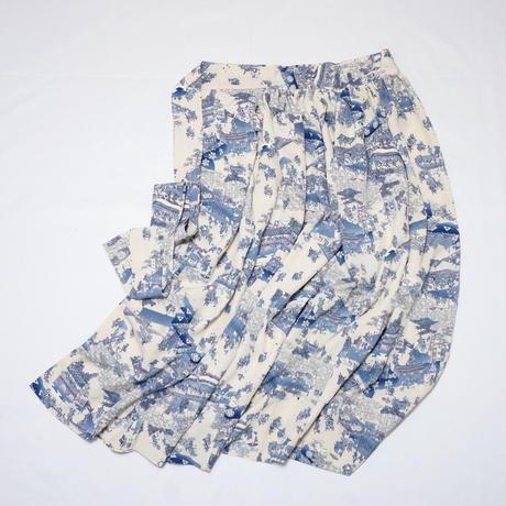 時代風景模様【ギャザーラップスカート】