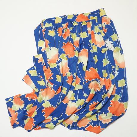 大花地紋模様【ギャザーラップスカート】