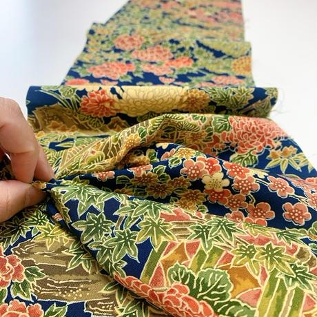 家屋に花鳥模様【化繊】タックラップスカート】