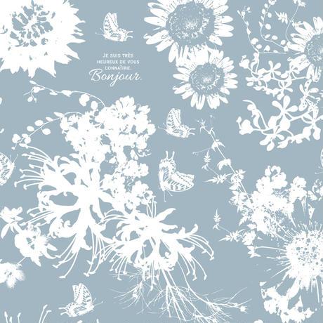 ★ガラス用★ Flower Modern/ホワイト