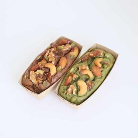 【ラマリー】グルテンフリーフィグ入りもち大麦パウンドケーキセット(ココア・抹茶)