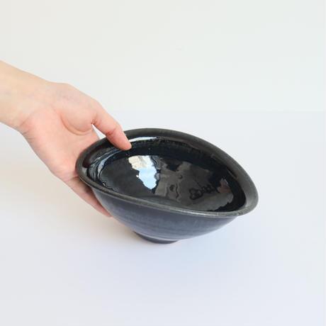 【翠窯(すいよう)】 小さなカレー皿baby 黒瑠璃
