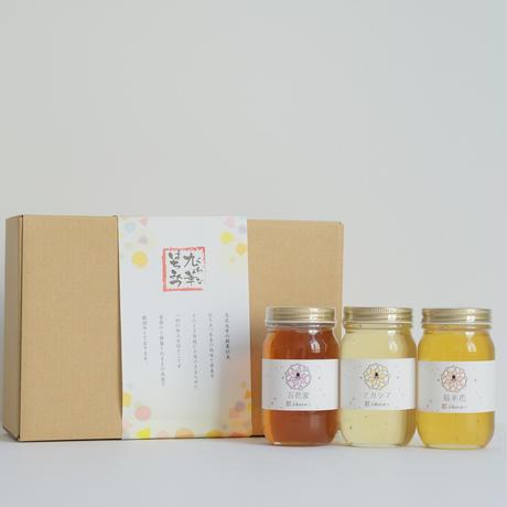 【舘養蜂場本店】 人気3種類の国産九華はちみつセット(300g×3本)