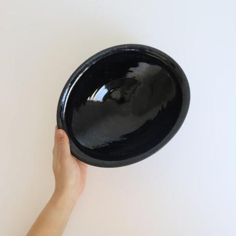 【翠窯(すいよう)】 カレー皿 黒瑠璃