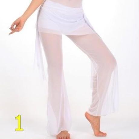 ベリーダンス練習チュールウエストスカートパンツ