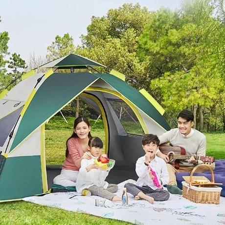 屋外自動ダブルシングル屋内アンチストームキャンプテント
