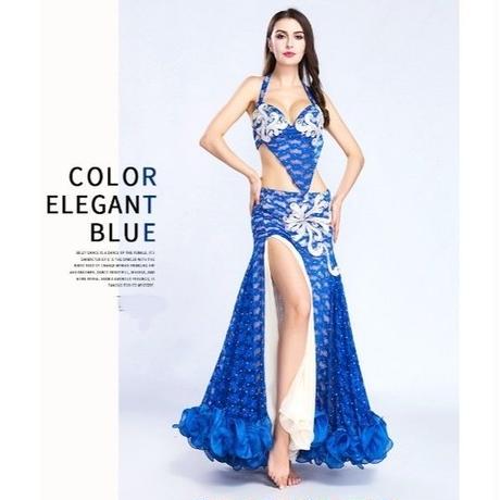 ベリーダンス衣装ブラとスカート2点セット
