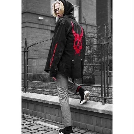 筋肉兄弟トレンドファッションデニムジャケット