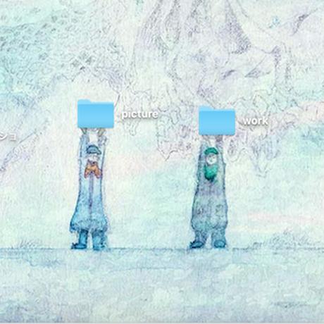 データピクチャ2点set《snow letter》+《祈りのスノウ》