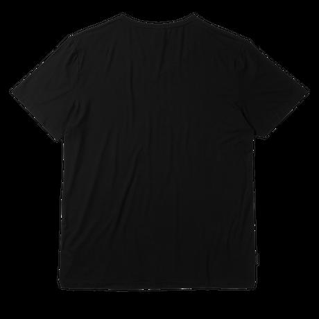 BOODY メンズVネックTシャツ ブラック