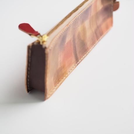 ボックス型ペンケース Brown 002