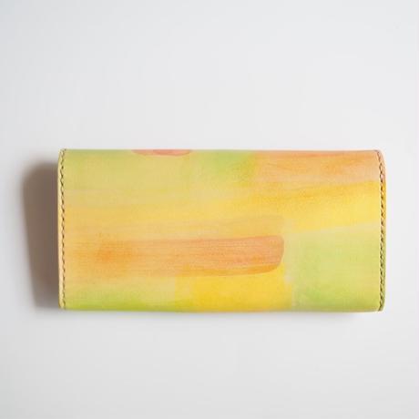 革の長財布【ビタミンカラー】001
