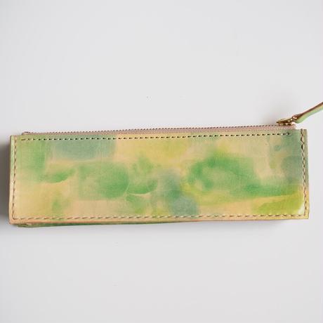 ボックス型ペンケース Green 001