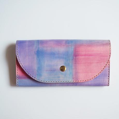 革の長財布【夕焼け】001