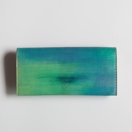 革の長財布 Ocean 001