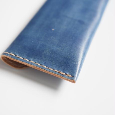 フラットなペンケース 紺