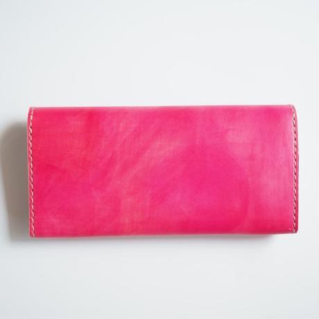 革の長財布【チェリーレッド】001