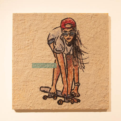 Skater Girl (Beach Art)