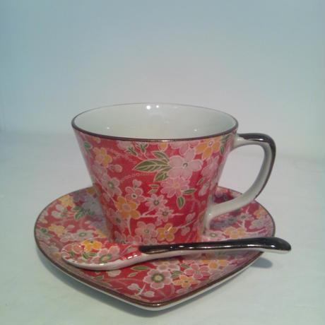 コーヒーカップ&ハート皿&スプーンset