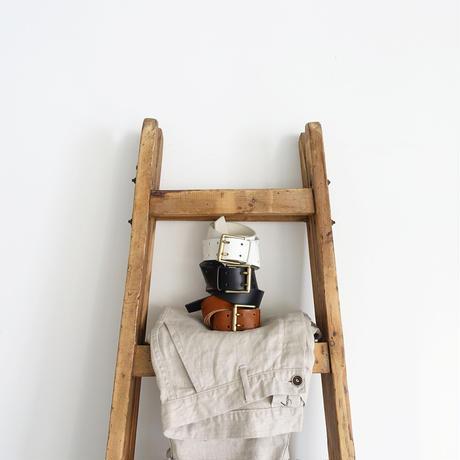 ichiAntiquités 500000 Leather Belt / A : BROWN