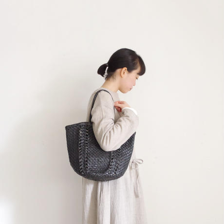 KYUCA KY0315 Leather Tote / BLACK