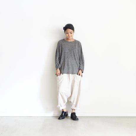 ichiAntiquités 500354 Linen Wide Pullover /  CHARCOAL
