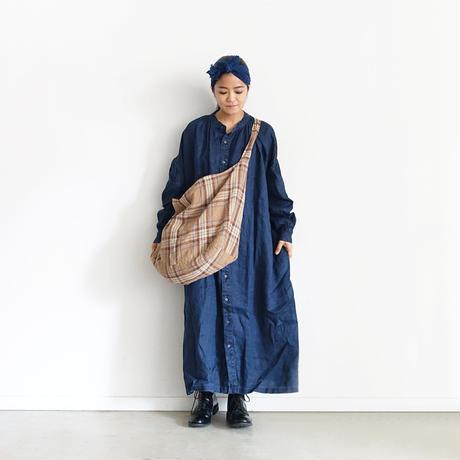 ichiAntiquités 600619 Linen Tartan Bag / C : BEIGE