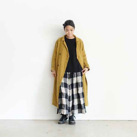 ichiAntiquités 100315 Linen Wool Double Coat / YELLOW