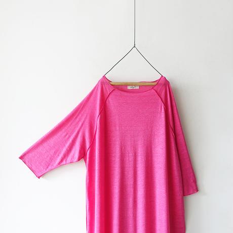 【ONLINE LIMITED】ichiAntiquités 600953 Linen Raglan Dress / 2 COLORS