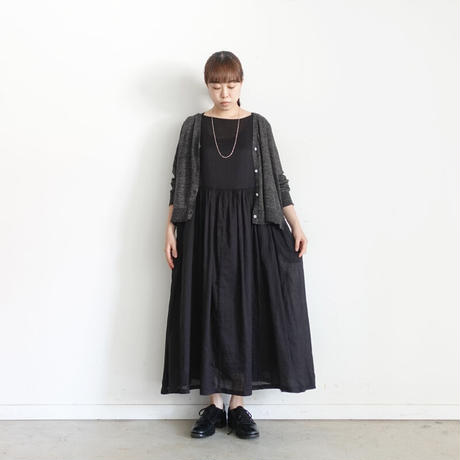 【ONLINE LIMITED】ichi 210133 Volume Gather Sleeveless One Piece / 2 COLORS